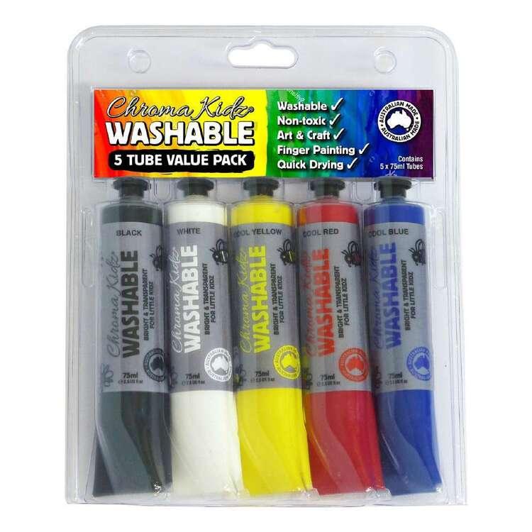 Chroma Kidz Washable Multicoloured Paint Set 5 Pack