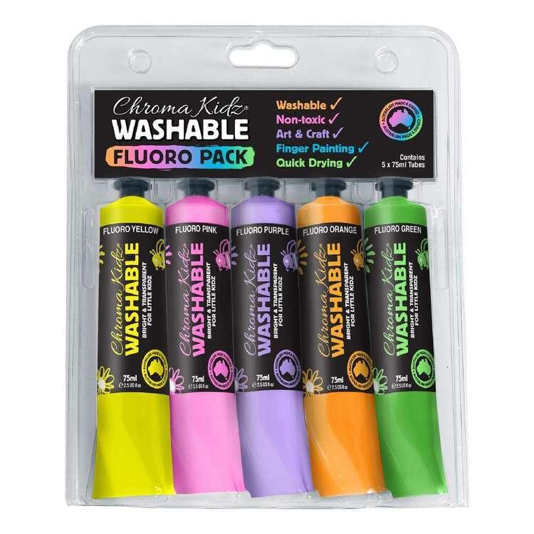 Chroma Kidz Washable Fluoro Paint Set 5 Pack