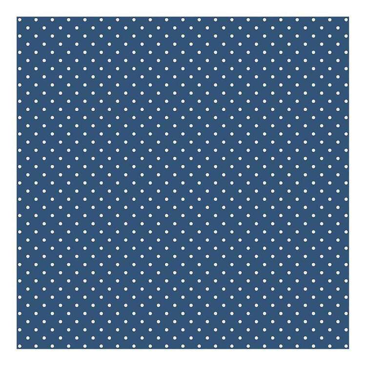 Bella Paperworld White Dots Blue Background Cardstock Paper