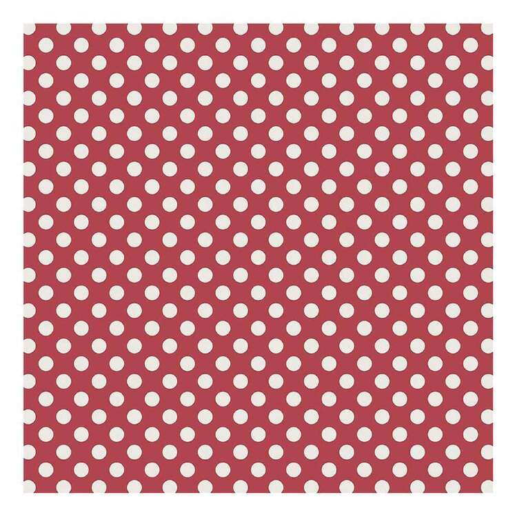 Bella Paperworld White Dots Red Background Cardstock Paper