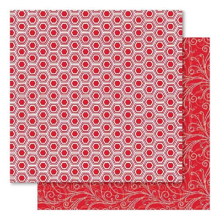 Bella Red Fusion Beehive Cardsotck Paper