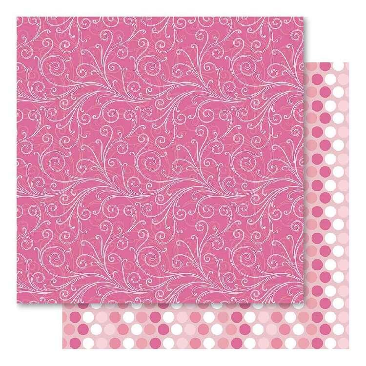 Bella Pink Fusion Flourish Cardstock Paper