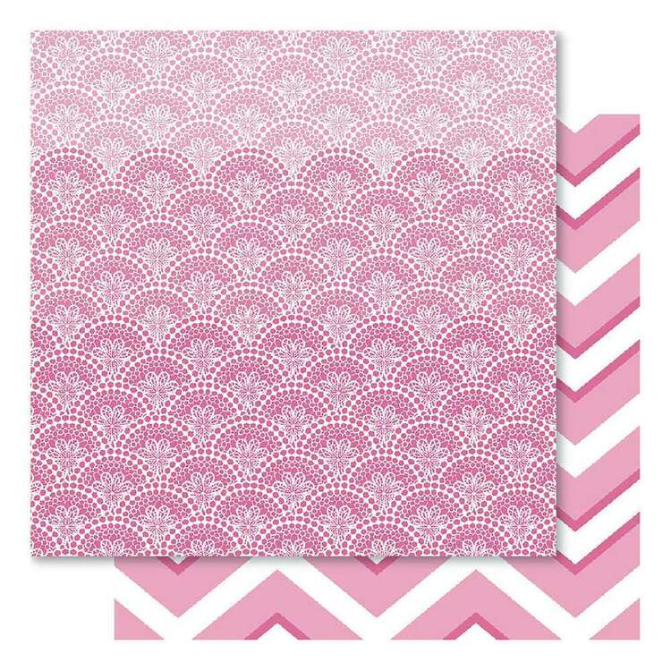 Bella Pink Fusion Doily Cardstock Paper