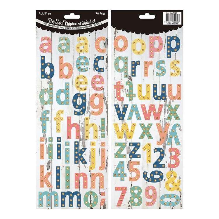 Bella Alphabet Chipboard