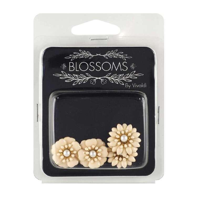 Vivaldi Blossoms 4 Pack Gold & Blush Flower