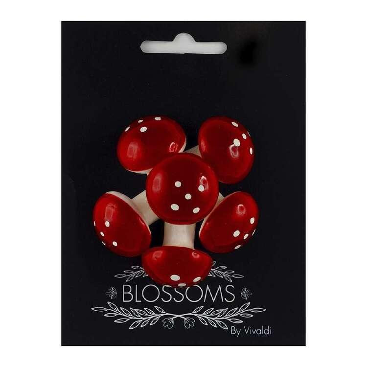 Vivaldi Blossoms 6 Pack Red & White Mushroom Foam