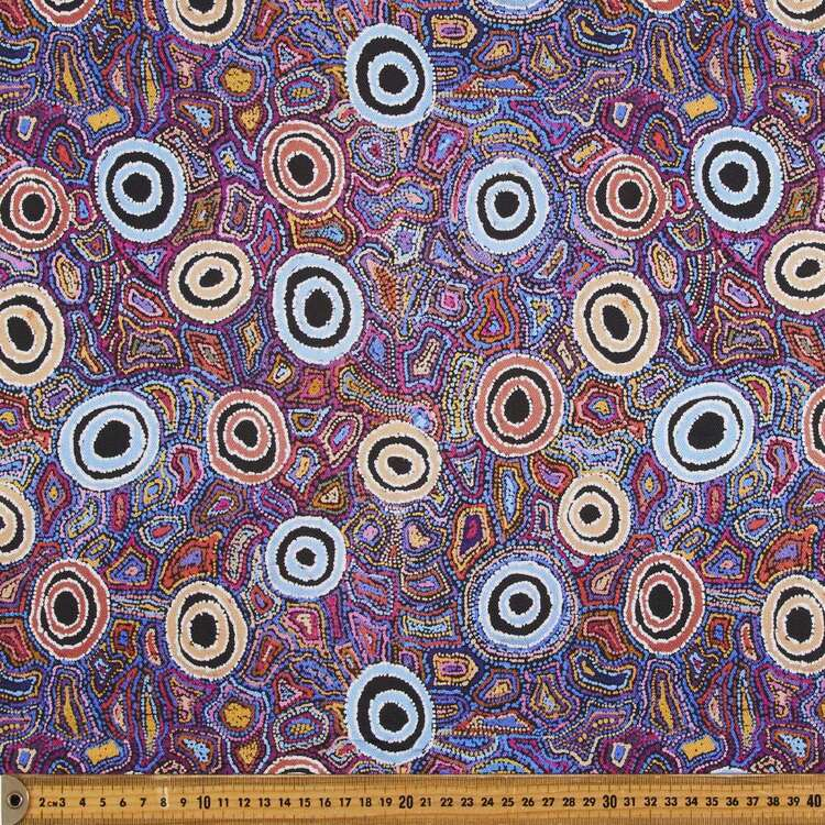 Warlu Yumari Jukurrpa (Yumari Dreaming) 150 cm Cotton Canvas Fabric