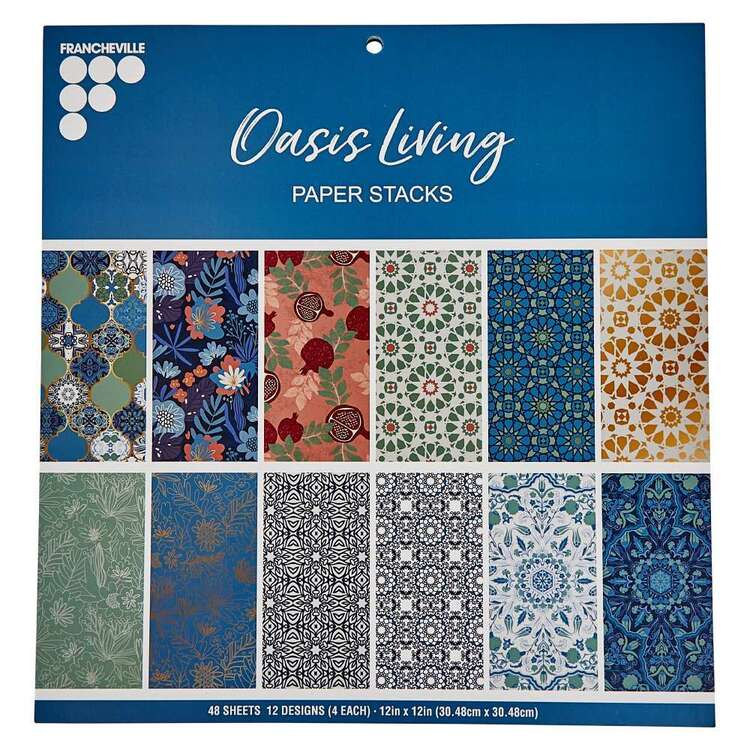 Francheville 12 x 12 in Oasis Living Paper Pad
