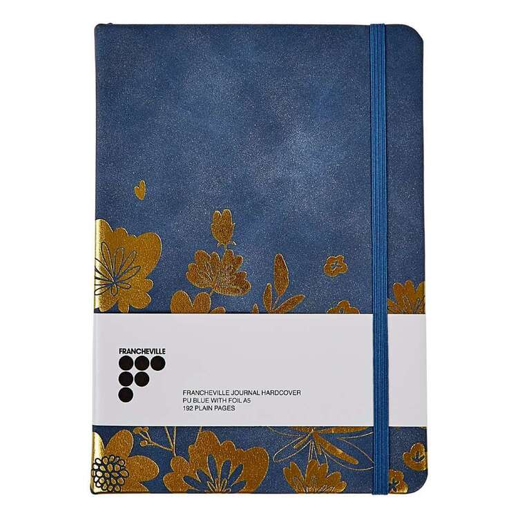 Crafters Choice Francheville A5 Blue With Foil Hardcover Journal