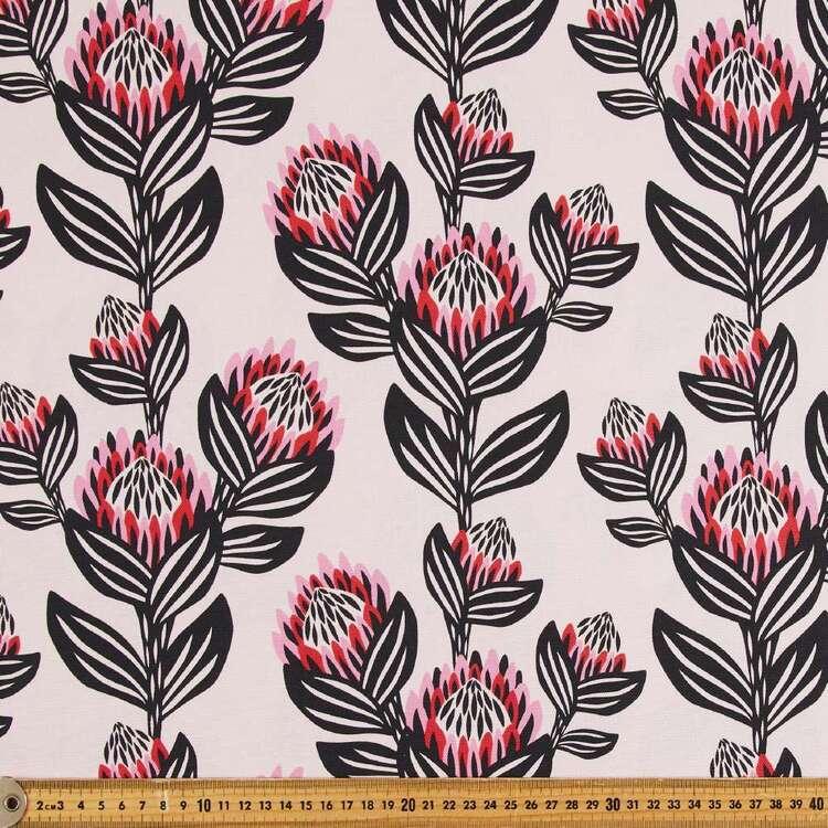Kirsten Katz Silver Protea Curtain Fabric