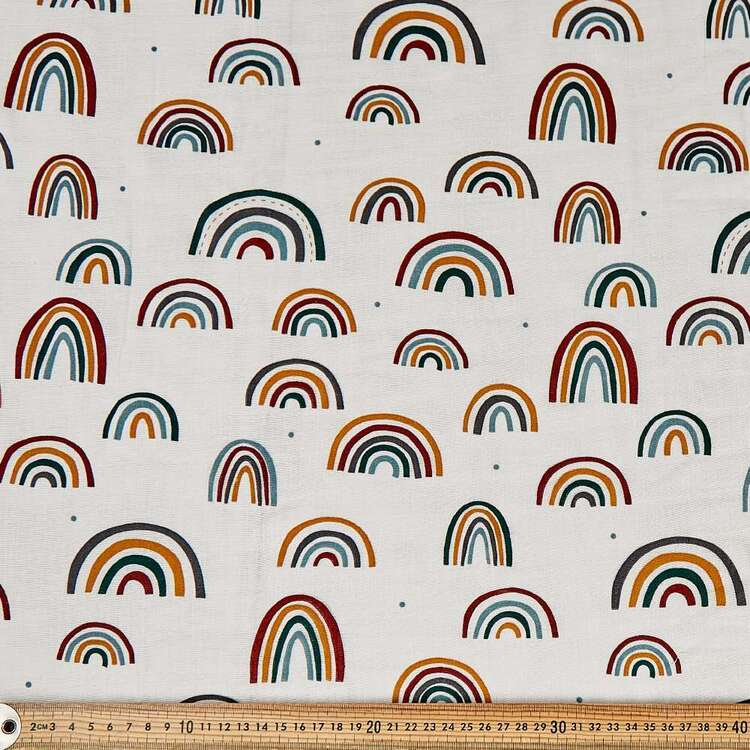 Arches Printed 130 cm Crinkle Double Cloth Fabric