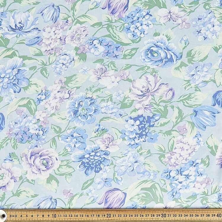 Hydrangea Printed 135 cm Rayon Fabric