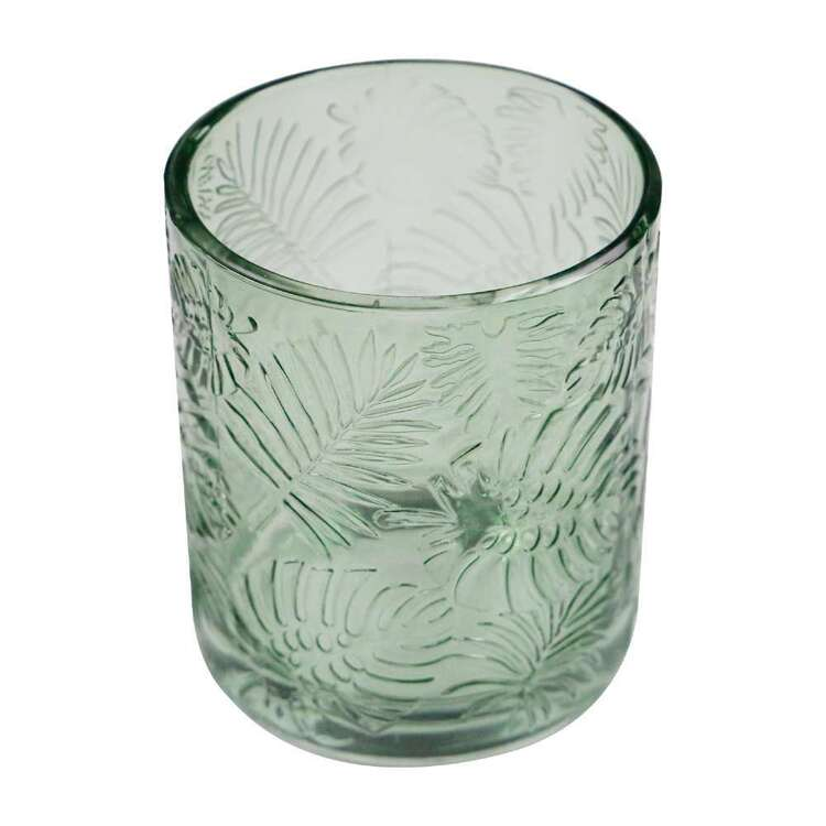 Ombre Home Urban Jungle 8.5 x 10 cm Glass Fern Candle Holder