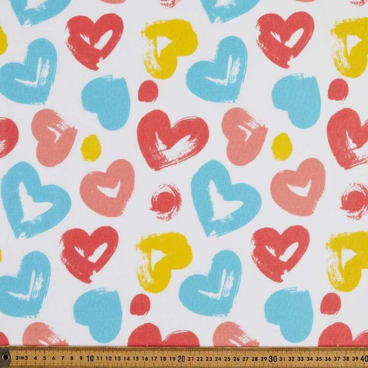 Love Hearts 120 cm Multipurpose Cotton Fabric