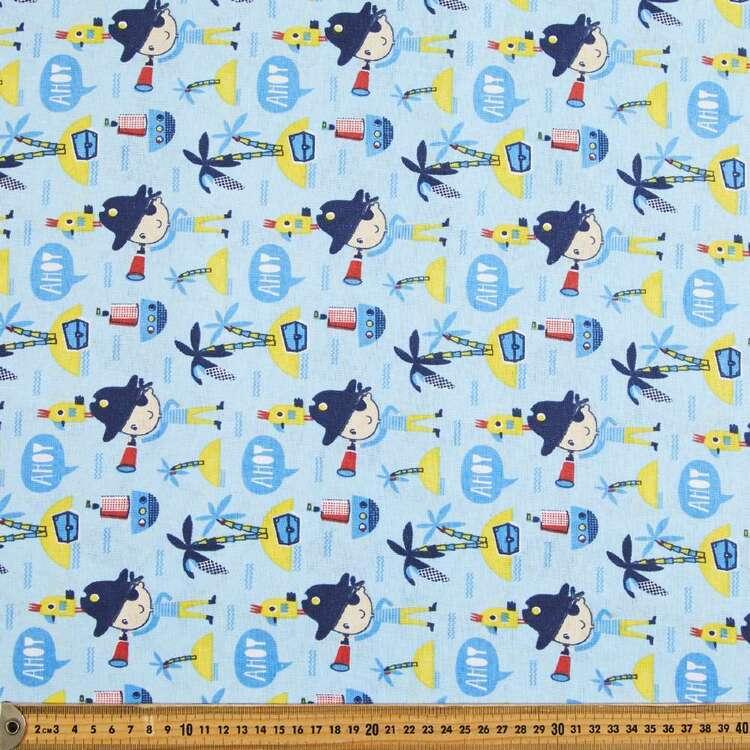 Ahoy Printed Cotton Multipurpose Fabric
