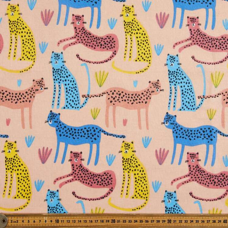 Wild Cats Multipurpose Cotton Fabric