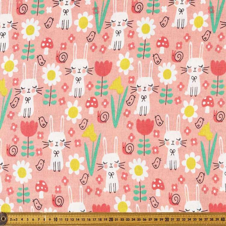 Sleepy Bunnies Multipurpose Cotton Fabric