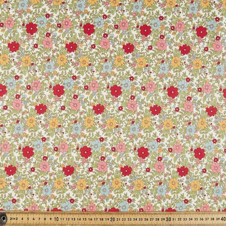Rose & Hubble Retro Roses Cotton Fabric
