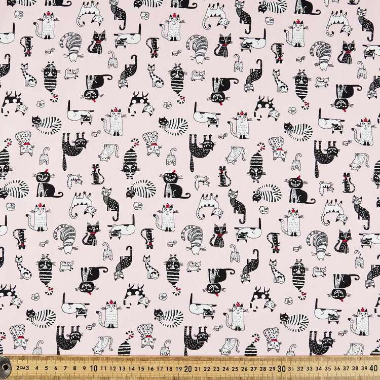Rose & Hubble Cool Cats Cotton Fabric