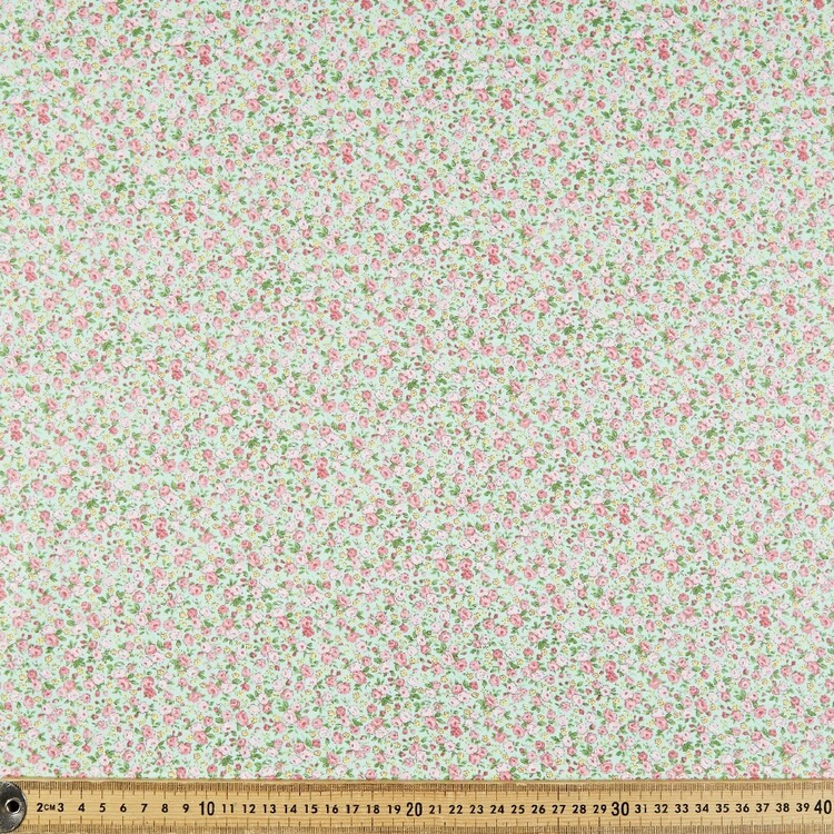 Rose & Hubble Button Rose Cotton Fabric