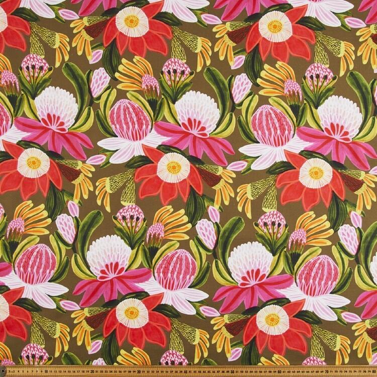 Kirsten Katz Green Symphony 150 cm Cotton Canvas Fabric