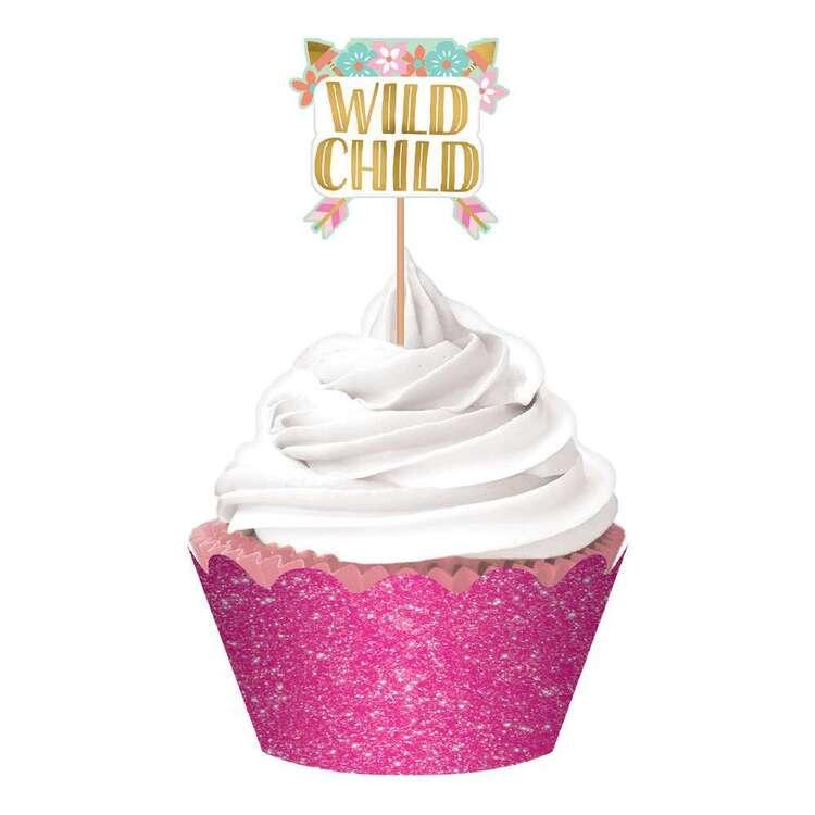 Amscan Boho Birthday Girl Cupcake Kit