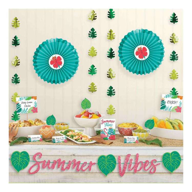 Amscan Tropical Jungle Deluxe Buffet Decorating Kit