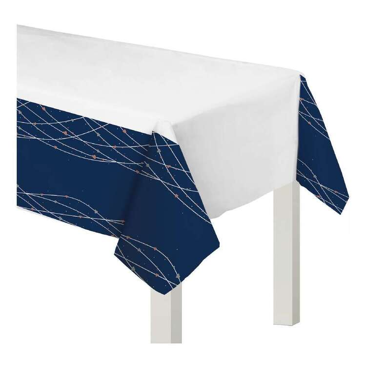 Amscan Navy Bride Plastic Table Cover