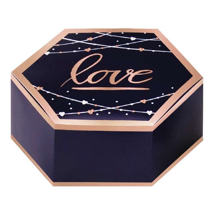 Amscan Navy Bride Hot Stamped Favour Boxes 8 Pack