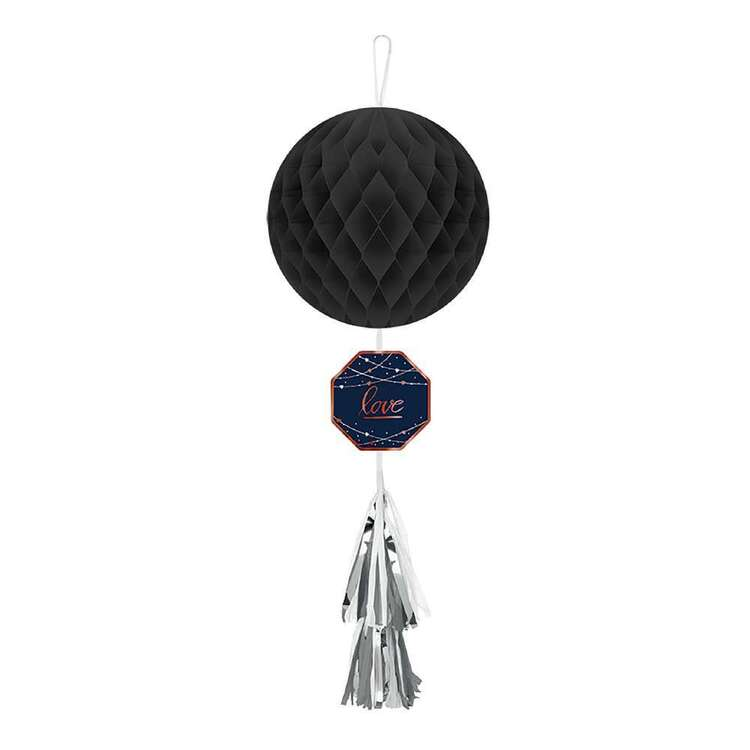 Amscan Navy Bride Honeycomb Decoration With Tail