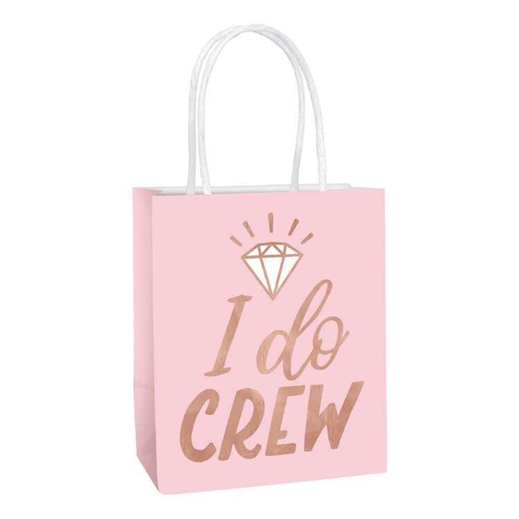 Amscan Blush Wedding Small Hot Stamped Gift Bags 6 Pack