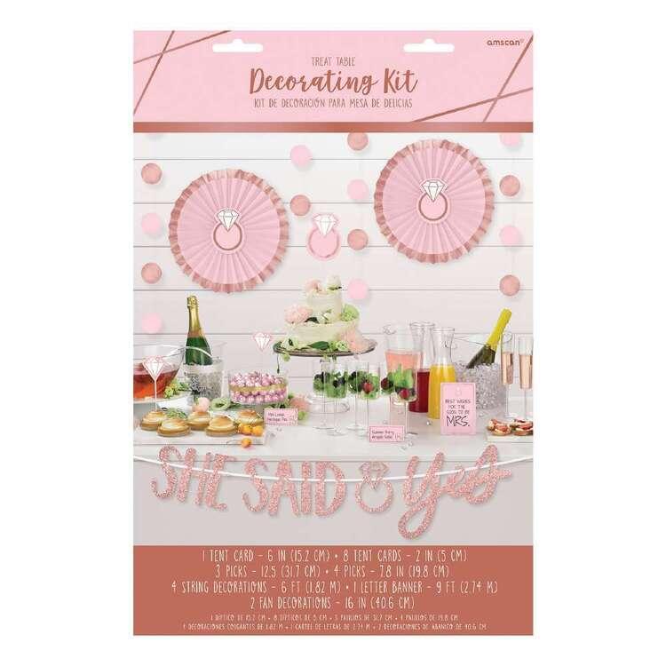 Amscan Blush Wedding Buffet Table Decoration Kit