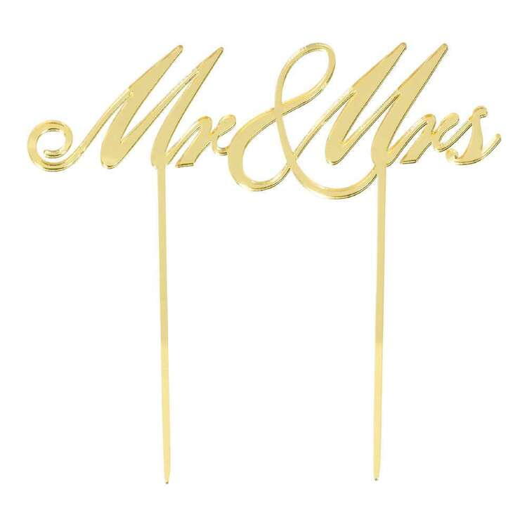 Amscan Mr & Mrs Cake Topper