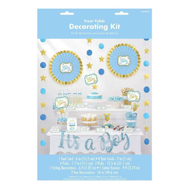 Amscan Baby Shower Blue Buffet Decorating Kit 23 Pieces