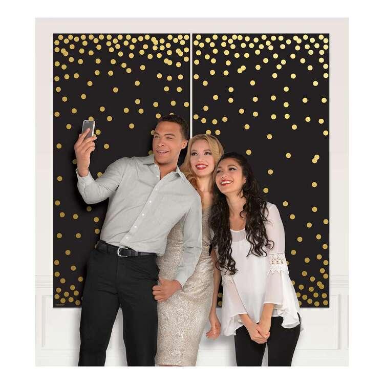 Amscan Black & Gold Photo Booth Scene Setter