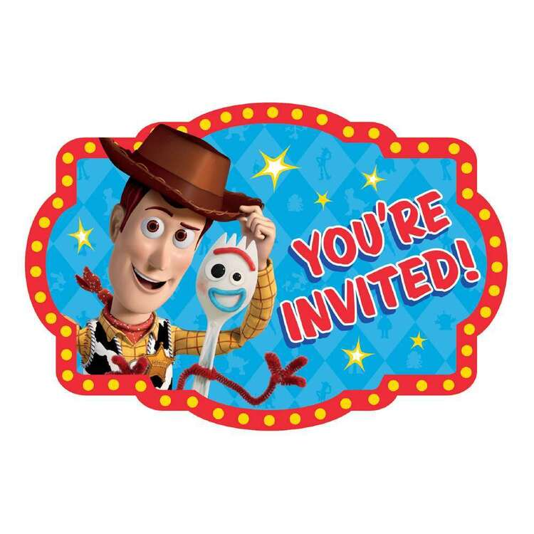 Amscan Toy Story 4 Postcard Invites 8 Pack