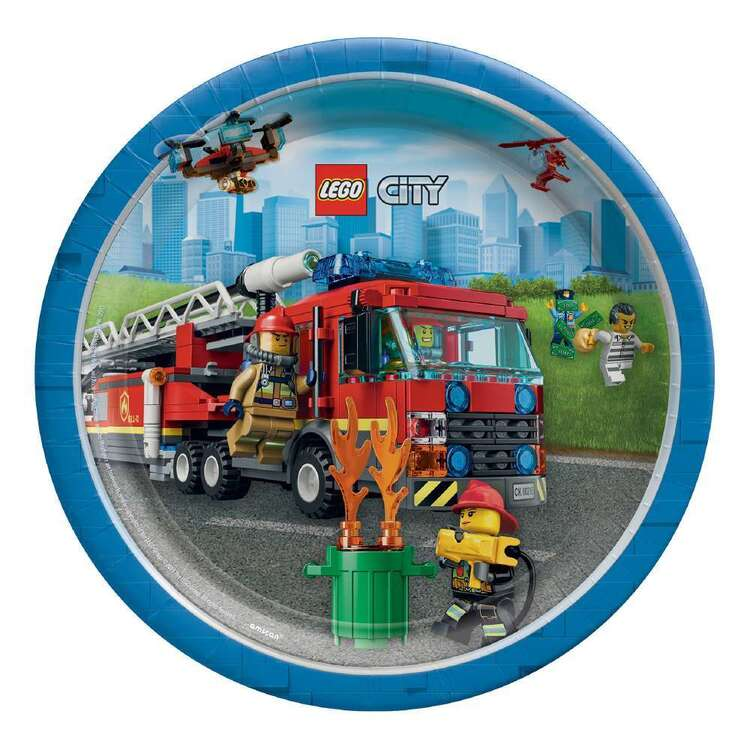 Amscan Lego City Paper Plates 8 Pack