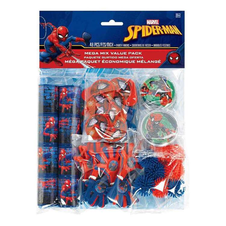 Amscan Spider-Man Webbed Wonder Mega Mix Favour Value Pack