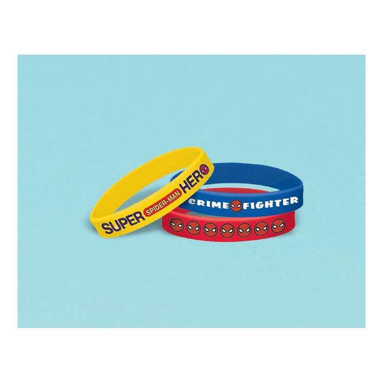 Amscan Spider-Man Webbed Wonder Rubber Bracelets 6 Pack