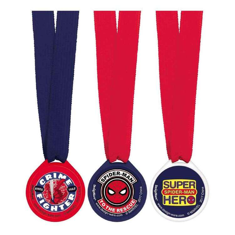 Amscan Spider-Man Webbed Wonder Award Medals 12 Pack