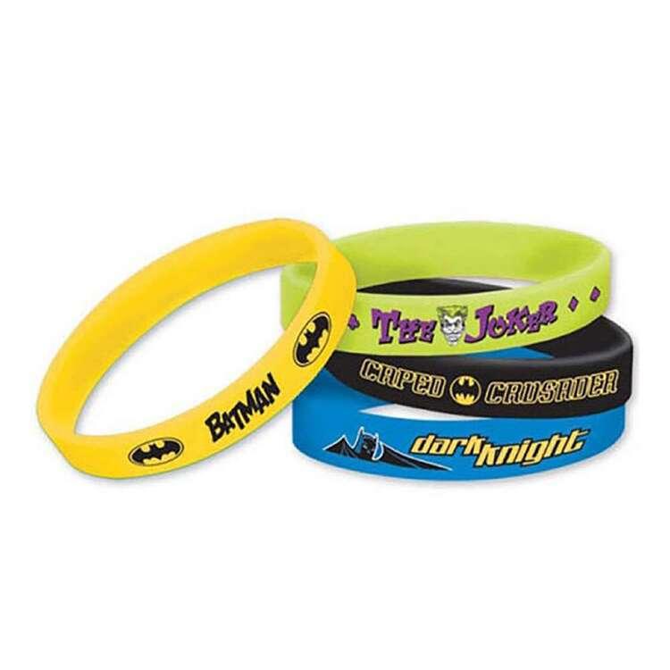 Amscan Batman Rubber Bracelet Favours 6 Pack