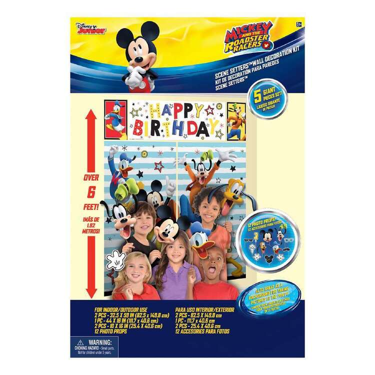 Amscan Mickey On The Go Scene Setter With Props