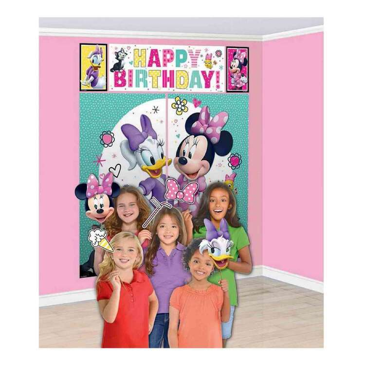 Amscan Minnie Helpers Scene Setter With Photo Props