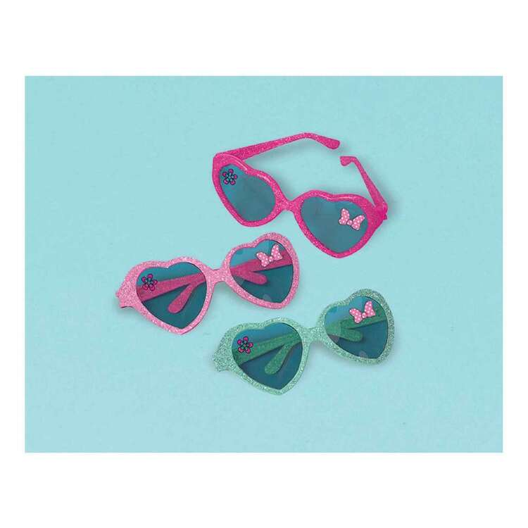 Amscan Minnie Helpers Glitter Heart Glasses