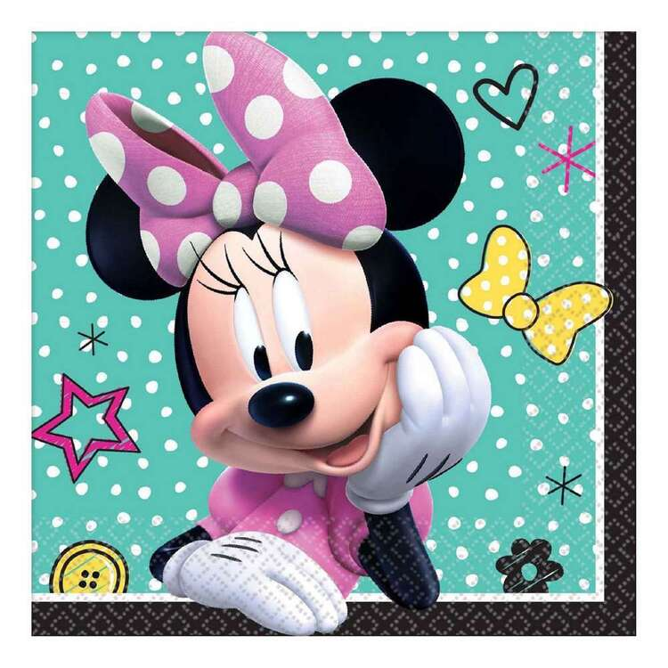Amscan Minnie Helpers Beverage Napkin