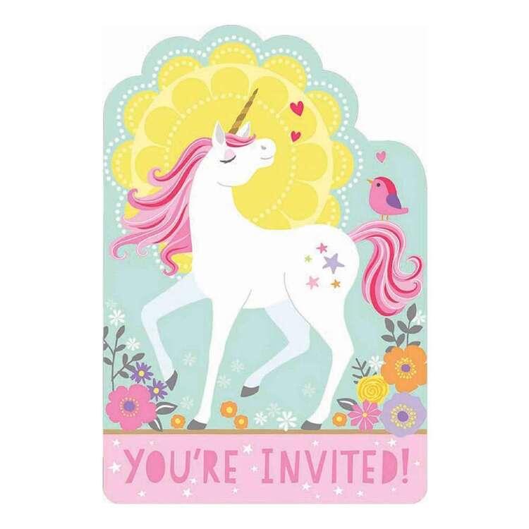 Amscan Magical Unicorn Postcard Invitations 8 Pack