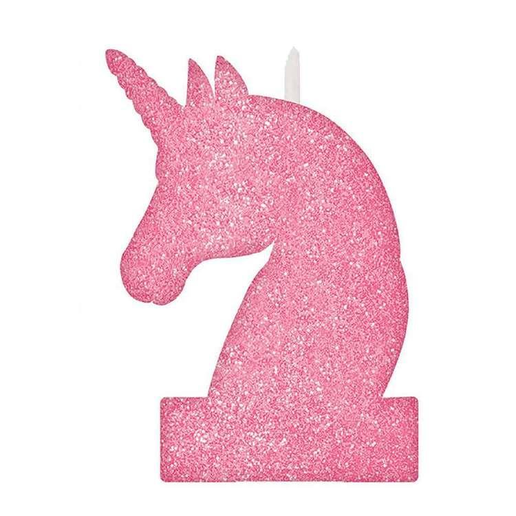 Amscan Magical Unicorn Glitter Birthday Candle