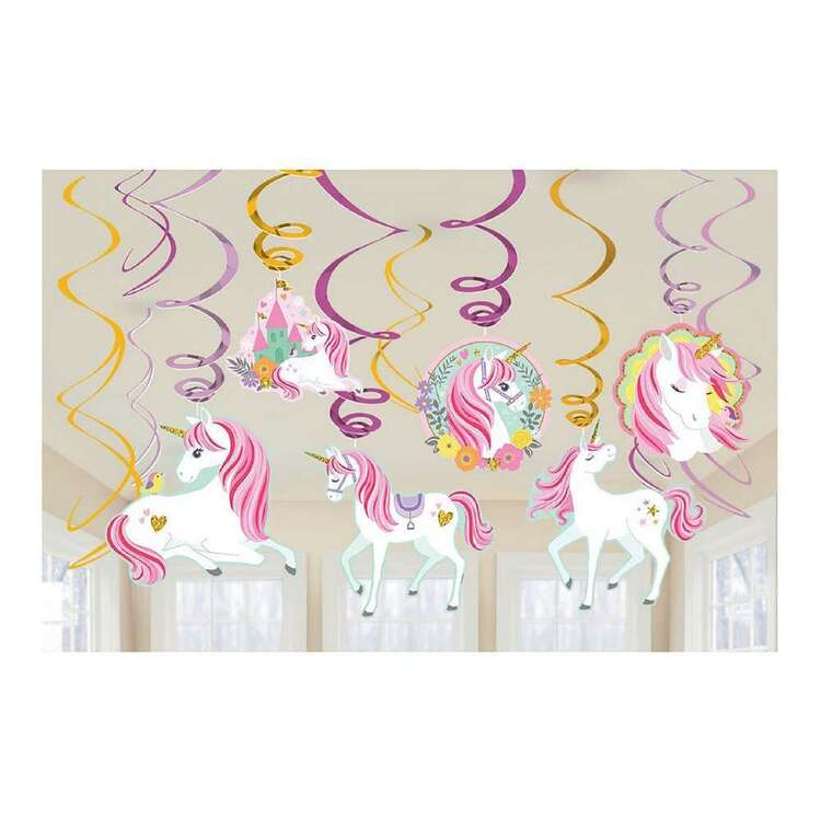 Amscan Magical Unicorn 12 Piece Swirl Value Pack
