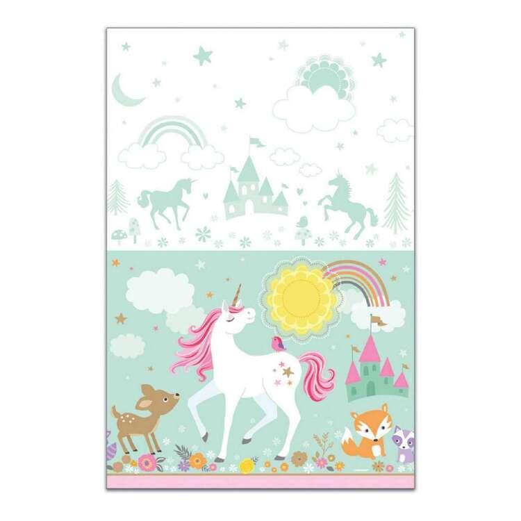Amscan Magical Unicorn Plastic Table Cover