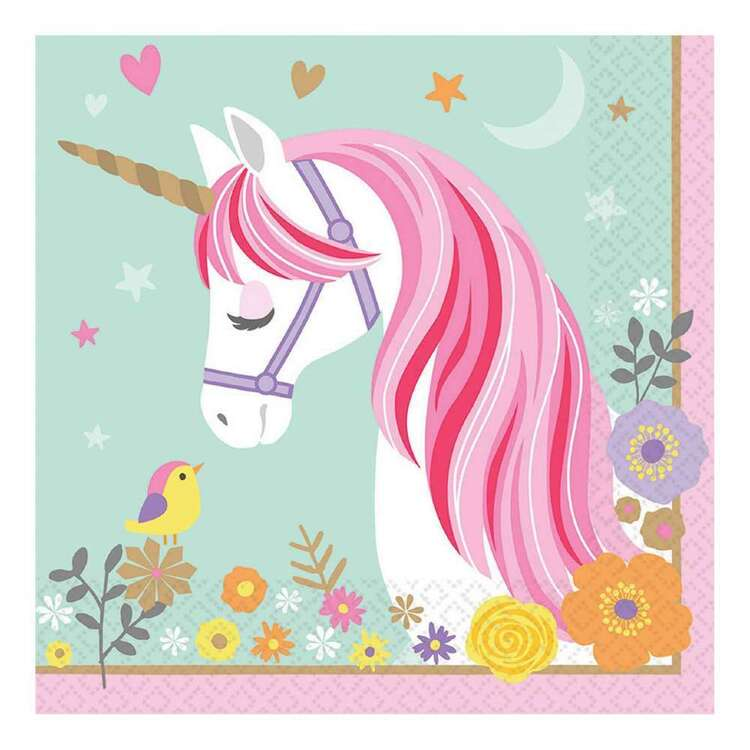 Amscan Magical Unicorn Lunch Napkin 16 Pack